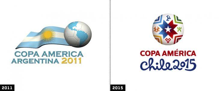 comparacion logos copa america argentina 2011 y chile 2015