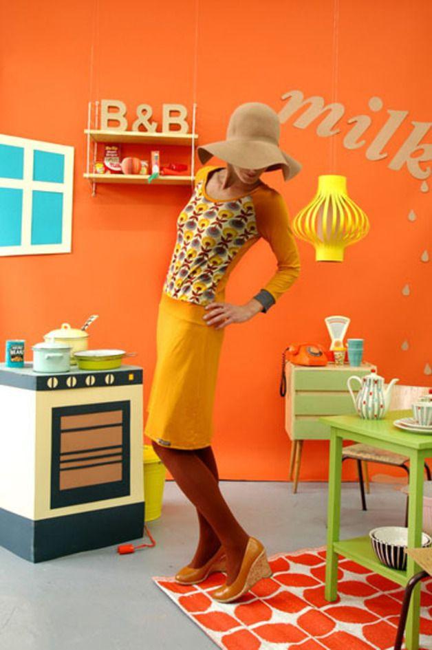 "Dresses – LAST ONE 38! RAGLANKLEID ""GRETA"" IN SENF – a unique product by Bonnie-and-Buttermilk on DaWanda"