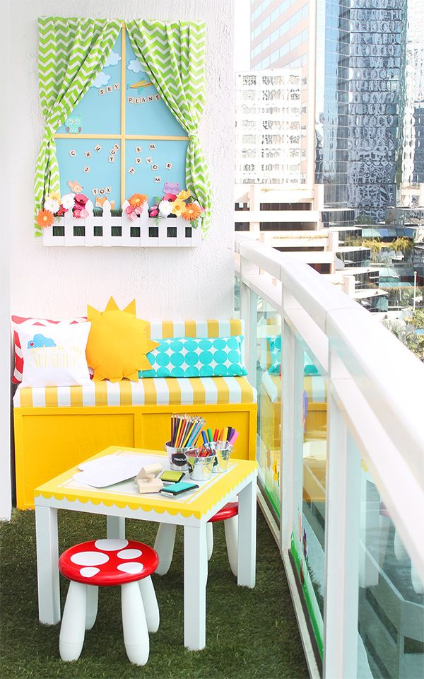 25 best ideas about faux window on pinterest fake for Cute apartment balcony ideas