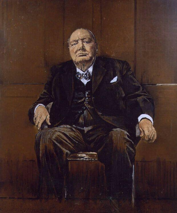 Winston Churchill By Sutherland Churchill Paintings Portrait Winston Churchill