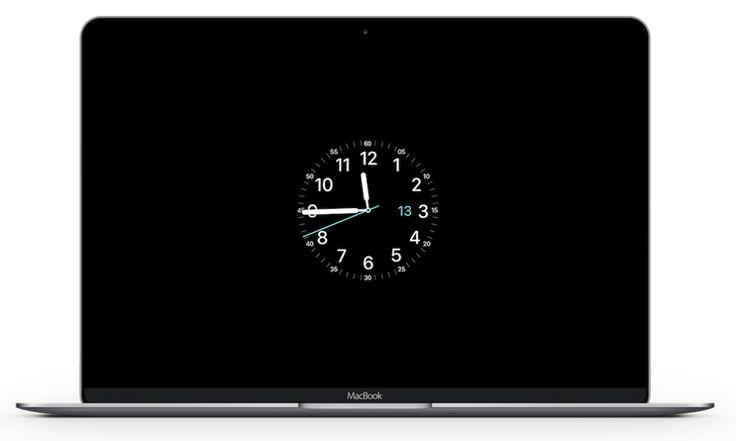 Usar las esferas del Apple Watch como salvapantallas en Mac