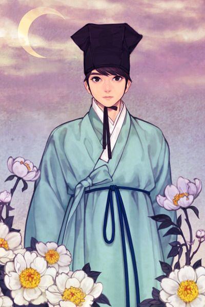 한복 hanbok, Korean traditional clothes : 흑요석.한복 일러스트