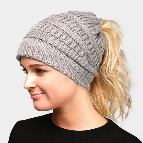 This is so cute!! #ponytailhairstyles #ponytail #hats #beanie