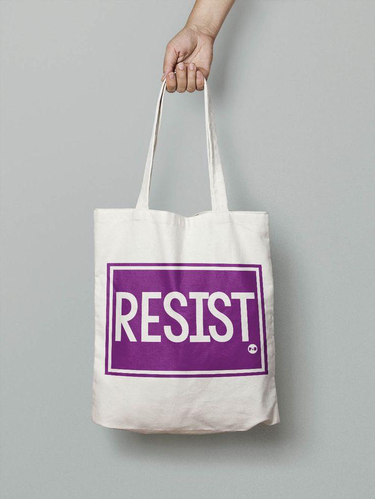 Resist #feminist #activist #resist #totebag #carryall #holdall #shopper #girlpower #tote #giftforher #christmaspresent #equality #pirateandblue