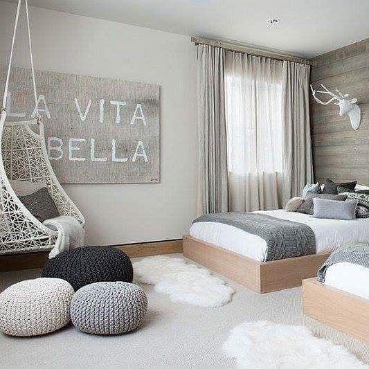 chambre ambiance nordique et scandinave un peu de. Black Bedroom Furniture Sets. Home Design Ideas