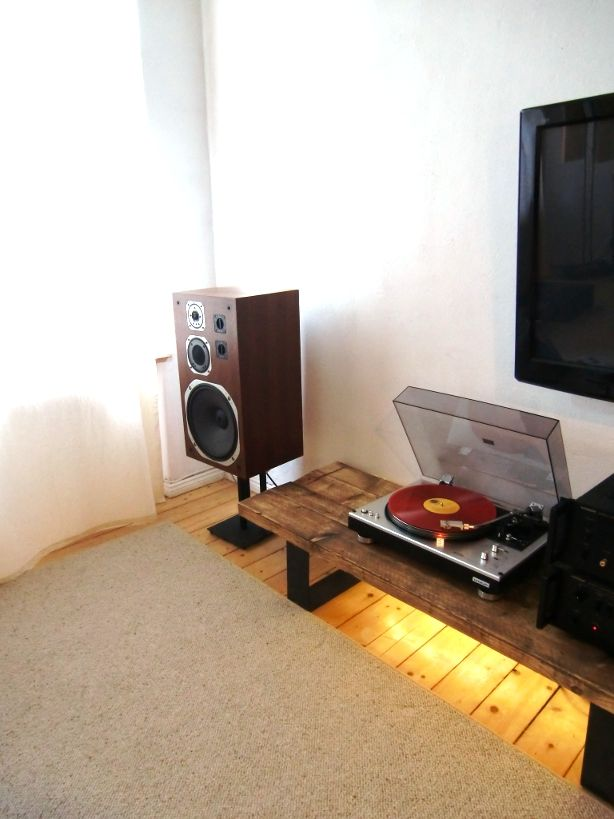 Great Vintage Gear Sala De Audio Home Projeto Movel