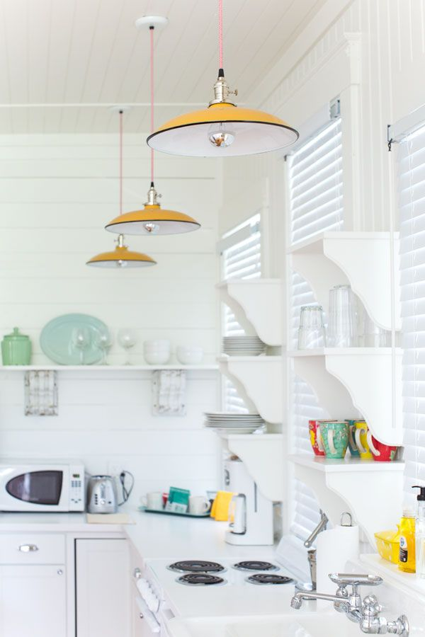 Ivanhoe® Cord Hung Pendant | Ivanhoe® Sinclair in Yellow with Red Chevron Cord | Kitchen Lighting
