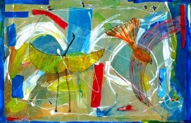 """Saatchi Art Artist Vanda Parker; Painting, """"IN FLIGHT"""" #art"""