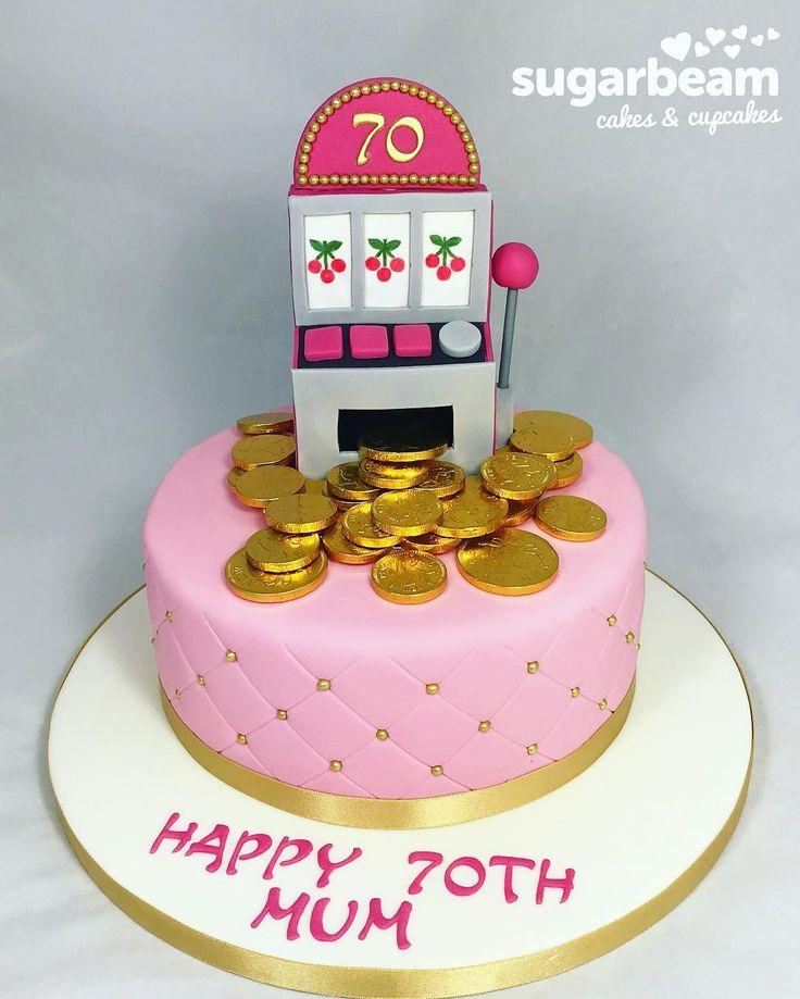 Fun 70th birthday cake for a great mum fruitmachine