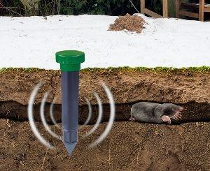 Gardenplaza - Maulwürfe mit Schallwellen sanft, aber effektiv vom Garten fernhalten