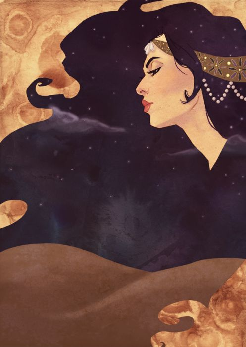 """1001 Arabian Nights"" illustration for BYU's 2011-12 Theater Season by Liz Pulido"