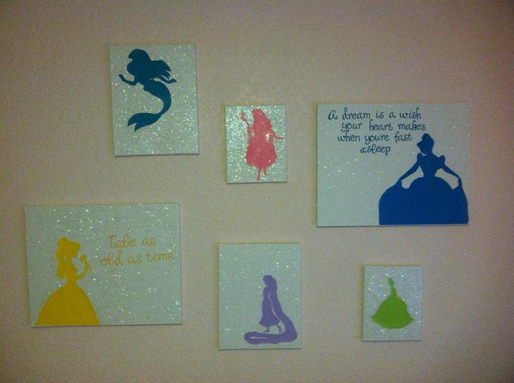 Disney Princess Silhouette Canvas Children Make Your
