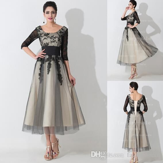 2015 Designer Mother Of The Bride Dresses Scoop Neck Half Sleeves Black Lace Appliques Empire Mother Prom Gowns With Lace Up Back Bzp0471 Mother Of Bride Designer Dresses Mother Of Groom Dresses For Fall From Factory Sale, $143.14| Dhgate.Com