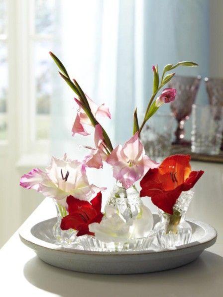 DIY Blumenstrauß: Gladiolen dreimal anders