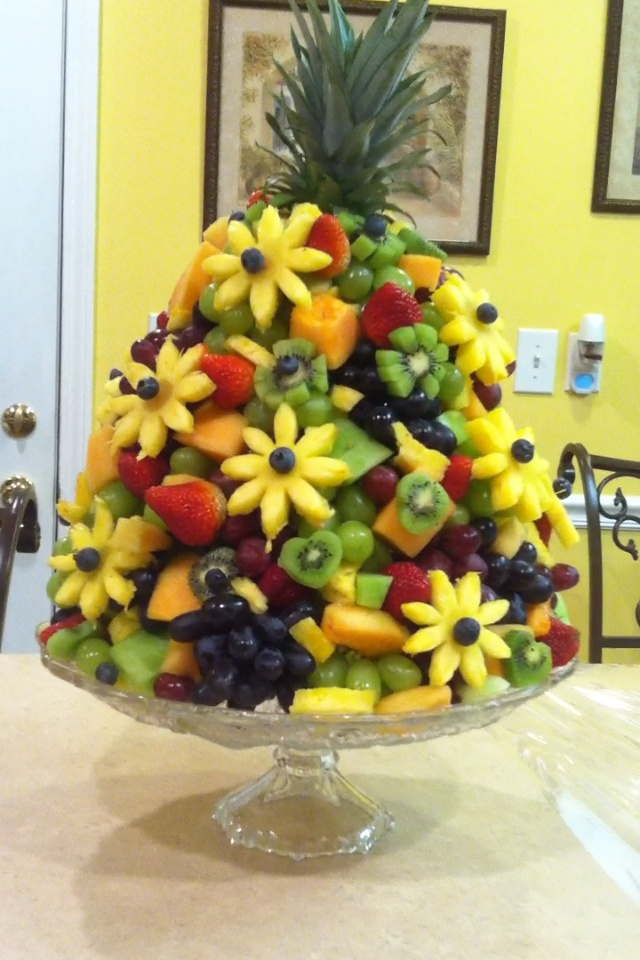 Fruit cascade for Corner Theatre Academy open house.  2012