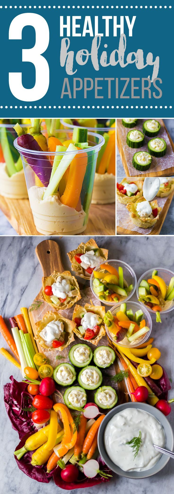 Whip up these healthy holiday appetizers with under 5 ingredients each!