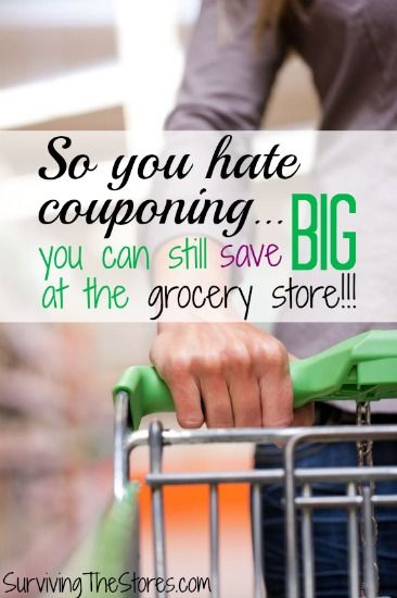 So you hate couponing... here is what you can do to still save BIG!!  These tips will change the way you look at saving money on groceries!