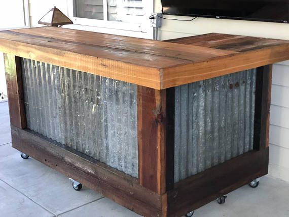 The Rough And Rustic L Shaped Bar 7 X 4 L Shaped Repurposed
