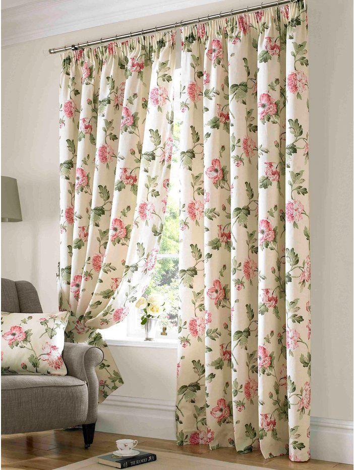 M Homeware Apsley floral curtain
