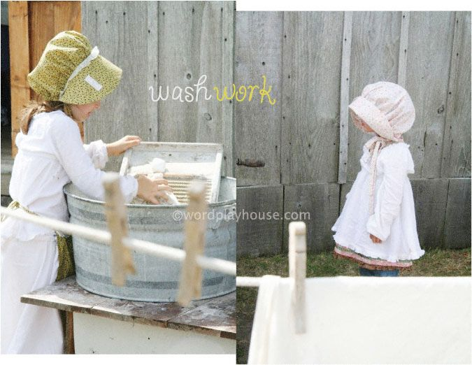 Pioneer projects for children + Little House on the Prairie books - how fun would it be to do a pioneer party! love the simple but practical crafts to try :) this could be so cute!