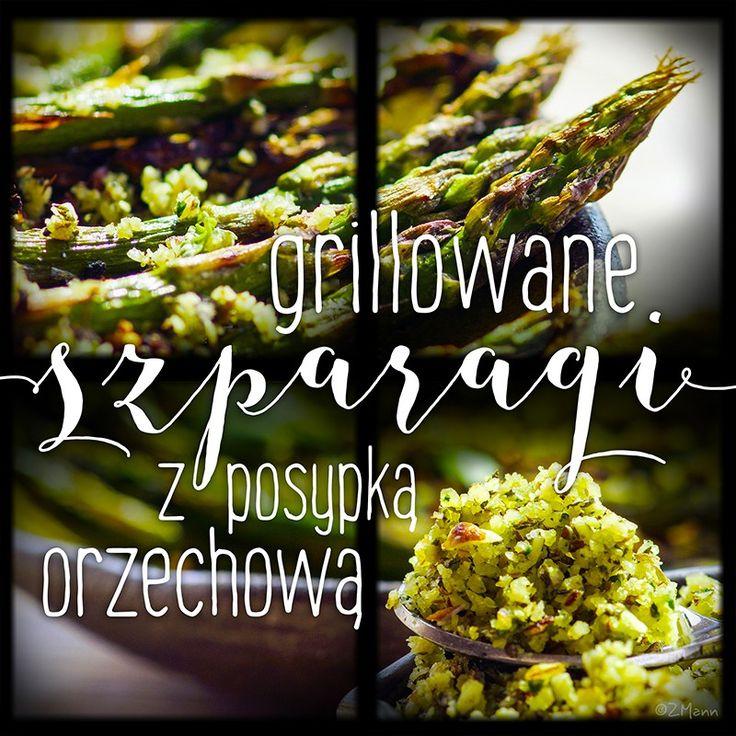 z widokiem na stół | grillowane szparagi orzechowe