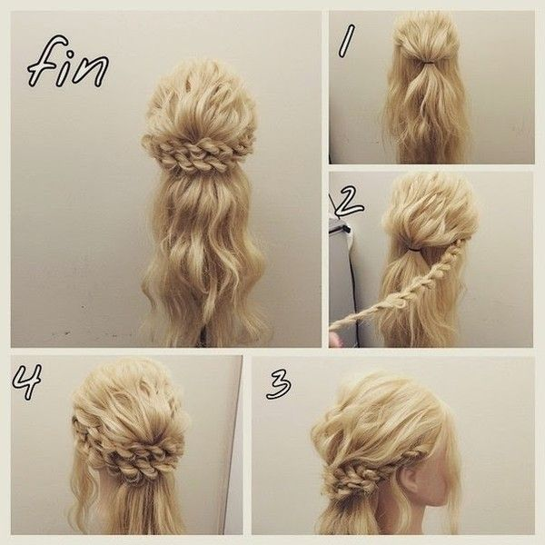 101 Pinterest Braids That Will Save Your Bad Hair Day | Princess Braided Updo