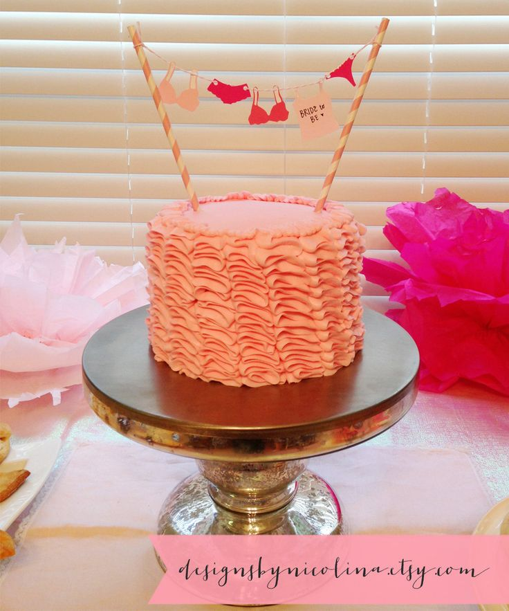 Blushing Bridal Lingerie Shower. I could maybe try to make this for the cake...