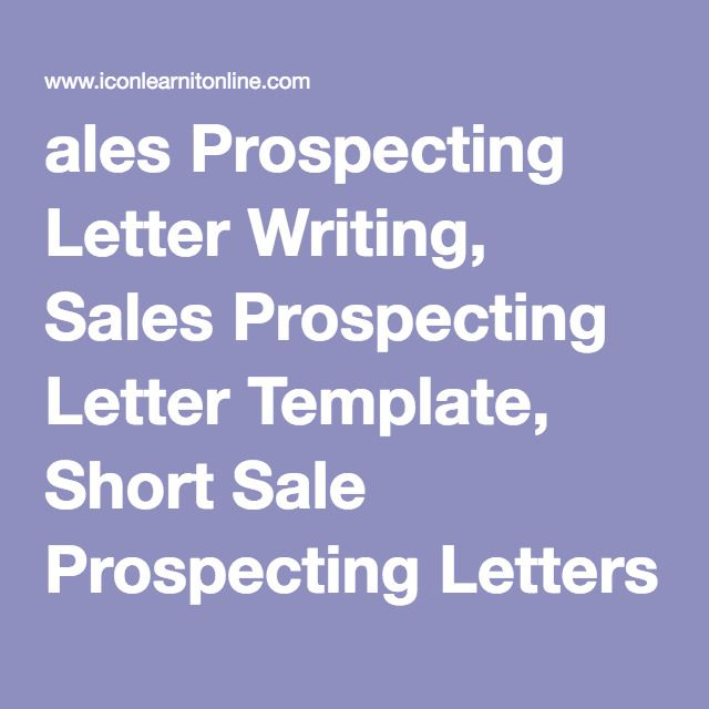 Best 25 sales prospecting ideas on pinterest sales for Short sale marketing letter