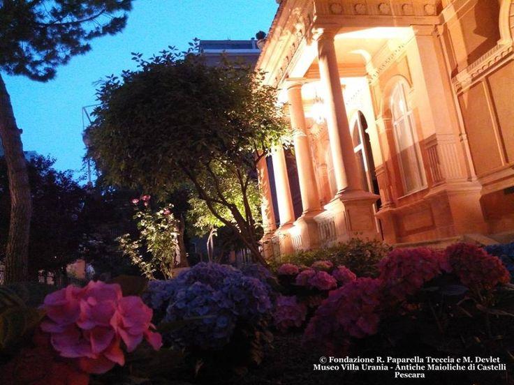 Villa Urania e il giardino illuminato per la Notte Europea dei Musei