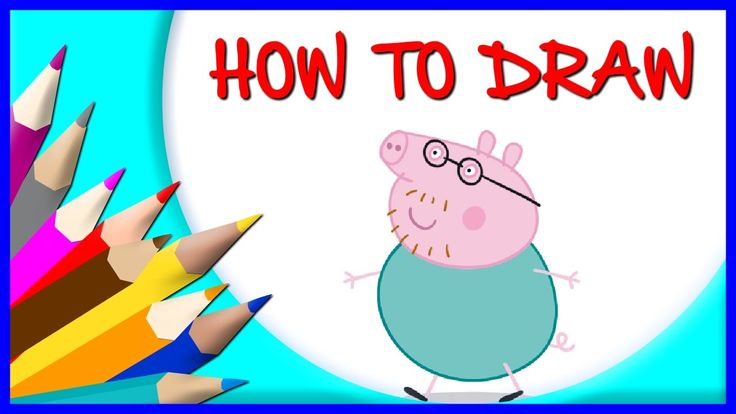 How to Draw Daddy Pig | Drawing Time Lapse | 853672 HTD