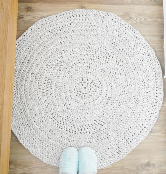 Rugs – Dywan pleciony beżowy  – a unique product by jolanta-dudek on DaWanda