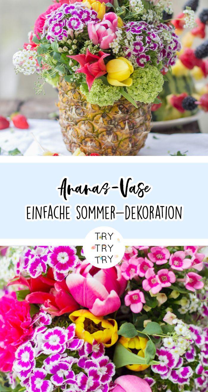 Ananas Vase Kreative Sommer Dekoration Sommer Dekoration Kreativ Dekoration
