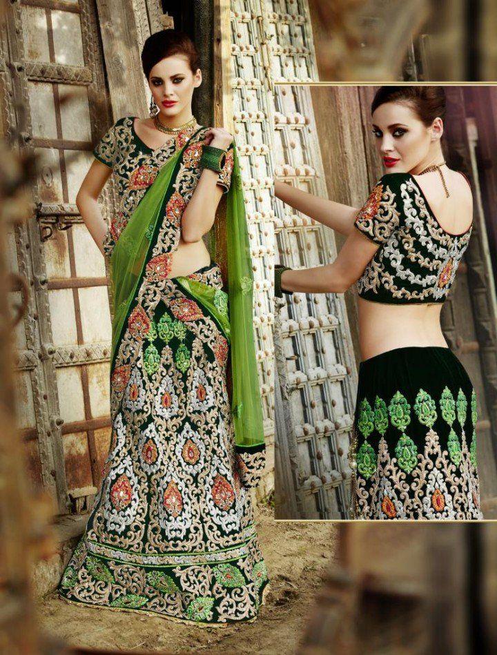 Green Designer Lehnga Choli