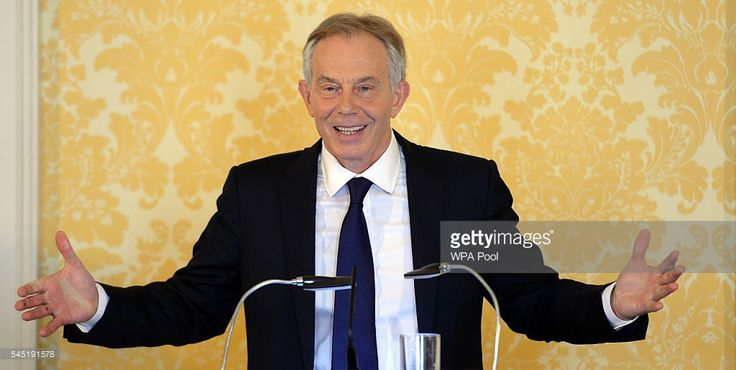Former Prime Minister, Tony Blair speaks during a press conference at Admiralty House, where responding to the Chilcot report he said: 'I express more sorrow, regret and apology than you may ever know or can believe on July 6, 2016. in London, United Kingdom. The Iraq Inquiry Report into the UK government's involvement in the 2003 Iraq War under the leadership of Tony Blair was published today. The inquiry, which concluded in February 2011, was announced by then Prime Minister Gordon Brown…