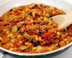 Ekopåsen recept på Quinoa med bönor och majs