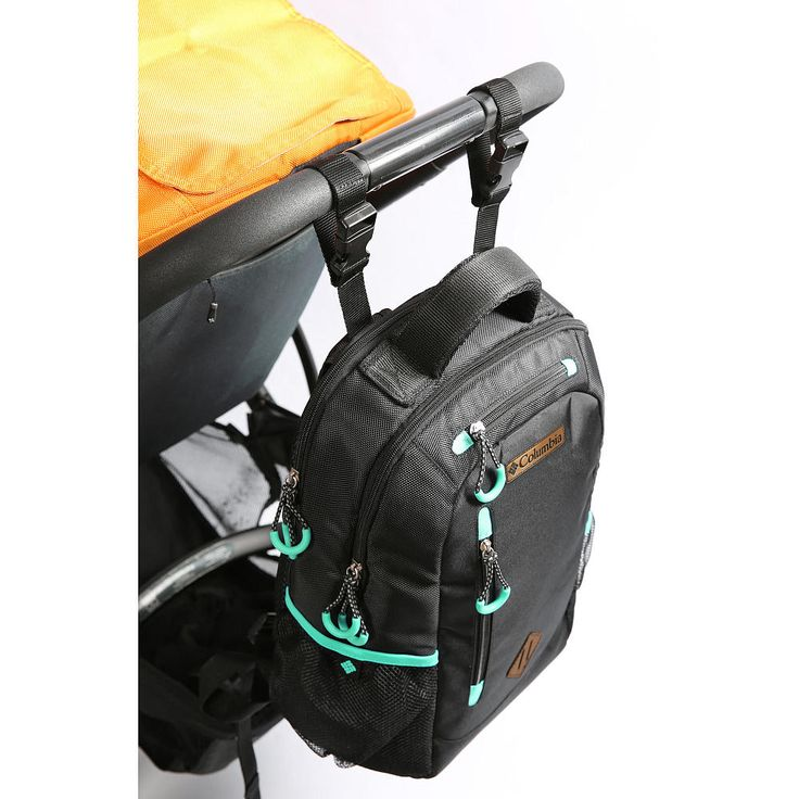 Always ready to go when you carry your baby's necessities in the Columbia Carson Pass™ Backpack Diaper Bag. This backpack diaper bag features a roomy main compartment with multiple organizer pockets, a thermal bottle compartment with Therma-Flect® radiant barrier that helps keep milk or formula fresh. The large secondary compartment also features a padded elasticized tablet/accessory pocket. Numerous exterior zippered pockets including a handy smaller zippered pocke...