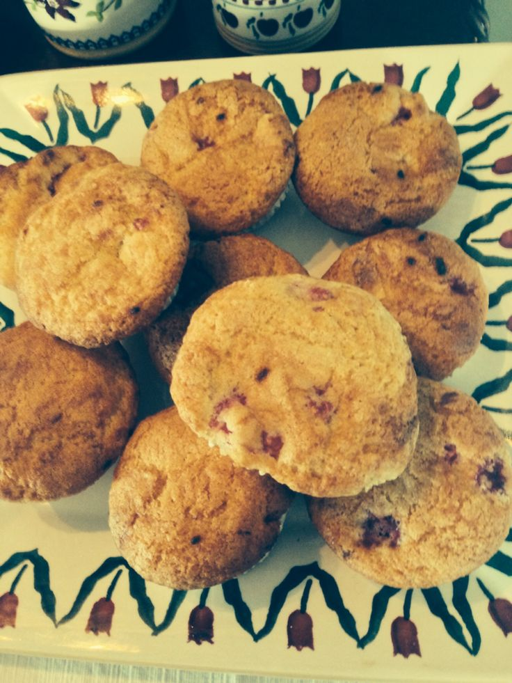 Raspberry & White Chocolate Muffins for Breakfast this morning  www.ballinsheen.comm