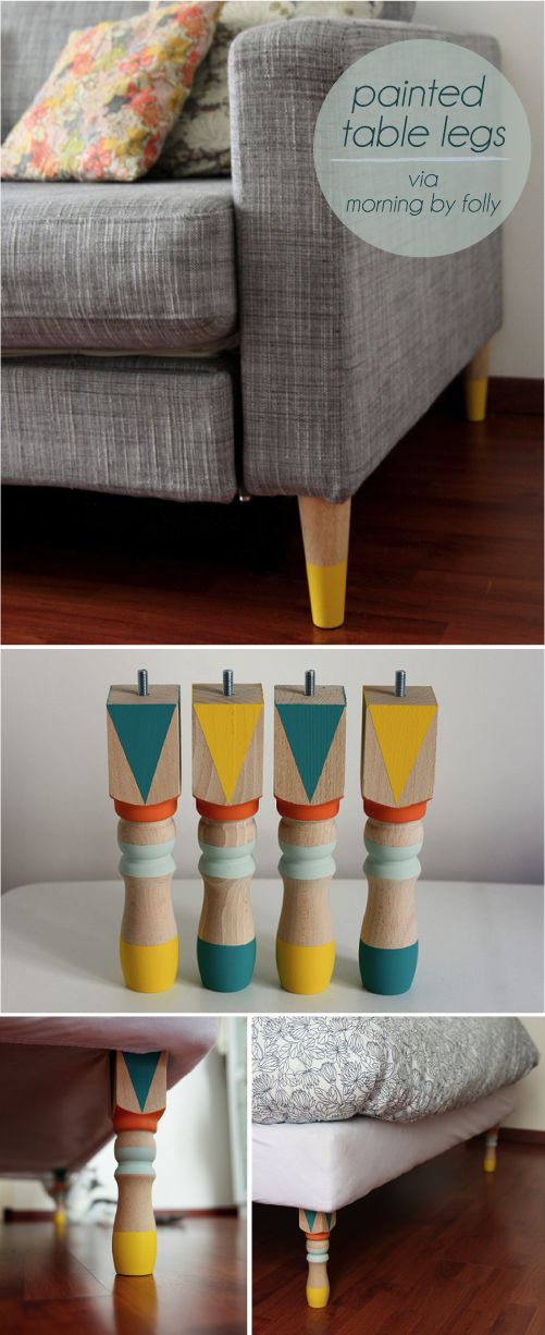 Painted table legs - customise our karlstad sofa