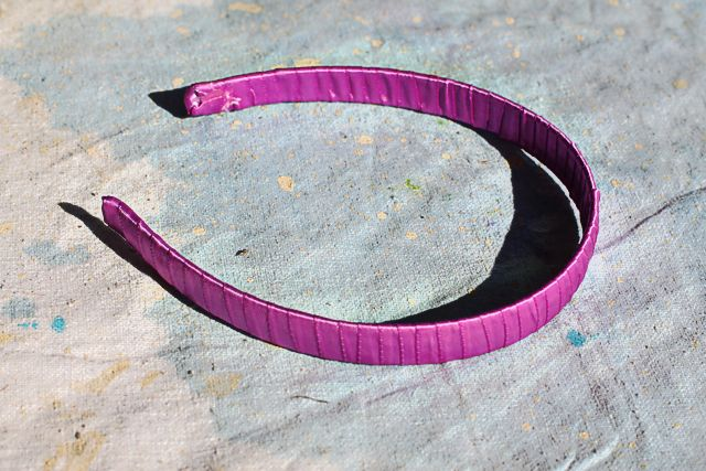 how to wrap a headband with ribbon