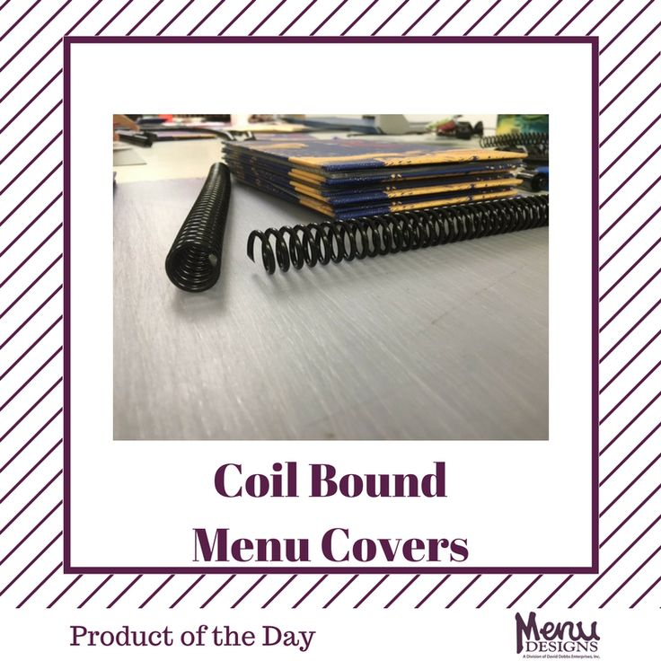 Product of the Day: Coil Bound Menu Covers.  Coil bound menu covers are also one of the most versatile menu covers, ideal for casual restaurants, bar & grills, and restaurants with extensive menu selections. #menudesigns #menu #menus #design #food #wine #drink #beverage #restaurant #bar #hotel