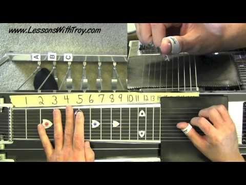 "Pedal Steel Basics Vol. #2 - ""AMAZING GRACE"" - Using Major Chord Grips - YouTube"