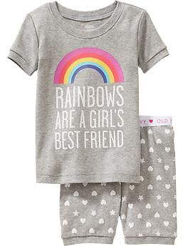 Rainbow PJ Sets for Baby | Old Navy