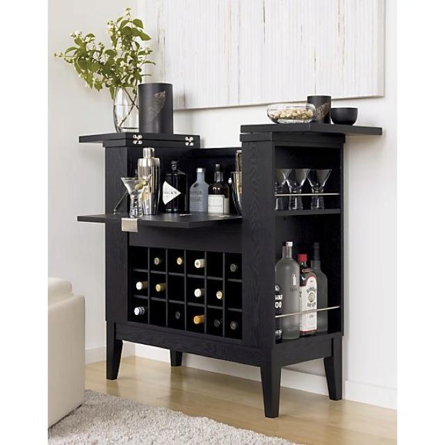 Crate And Barrel Bar Cabinet