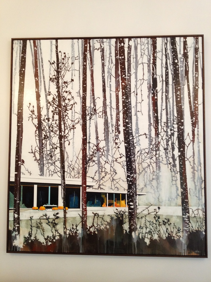 Aspen painting. 1.4 m wide and 1.55 m high