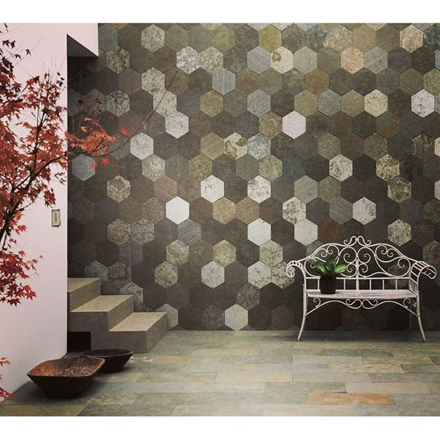 Think happy & positive  Have a beautiful day!  #hexagon #tiles #artesia