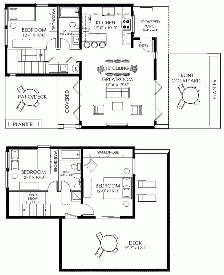Delightful Small House Plan Small Contemporary House Plan Modern Cabin Plan
