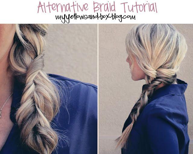 Finally a really easy different braid!Braids Tutorials, Yellow Sandbox, Long Hair, Messy Braids, Hair Style, Cute Braids, Side Braids, Twists Braids, Alternative Braids