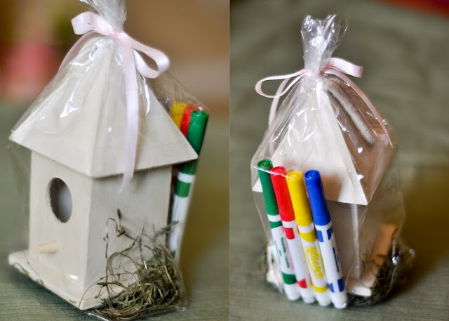 Bird Party Favors www.lifeandbaby.com Kids favors....craft to do @ party