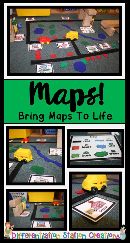 Rock your Blocks Center! Just add felt or foam pieces to your block center to create interactive maps. Kids can learn map skills, explore communities and community helpers, and practice a number of math and literacy skills. Includes map key, places in the community, differentiated recording sheets, and tons of ideas! $