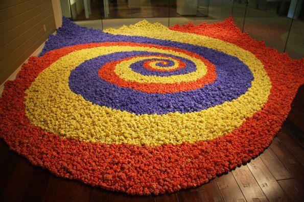 "Patsy Cox, ""urban rebutia at Seattle Design Center (30,000 pieces)"""